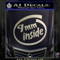 9mm Inside Gun Decal Sticker Metallic Silver Emblem 120x120