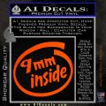 9mm Inside Gun Decal Sticker Orange Emblem 120x120
