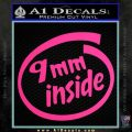 9mm Inside Gun Decal Sticker Pink Hot Vinyl 120x120