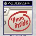 9mm Inside Gun Decal Sticker Red 120x120