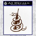 AR 15 Gadsden Snake Decal Sticker BROWN Vinyl 120x120