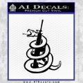 AR 15 Gadsden Snake Decal Sticker Black Vinyl 120x120
