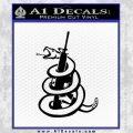 AR 15 Gadsden Snake Decal Sticker Black Vinyl 120x120