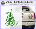 AR 15 Gadsden Snake Decal Sticker Green Vinyl Logo 120x97