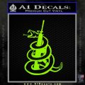 AR 15 Gadsden Snake Decal Sticker Lime Green Vinyl 120x120