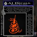 AR 15 Gadsden Snake Decal Sticker Orange Emblem 120x120