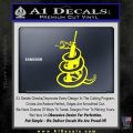 AR 15 Gadsden Snake Decal Sticker Yellow Laptop 120x120