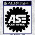 ASE Certified Mechanic Decal Sticker CR Black Vinyl 120x120