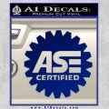 ASE Certified Mechanic Decal Sticker CR Blue Vinyl 120x120