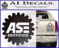 ASE Certified Mechanic Decal Sticker CR Carbon FIber Black Vinyl 120x97