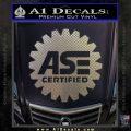 ASE Certified Mechanic Decal Sticker CR Carbon FIber Chrome Vinyl 120x120