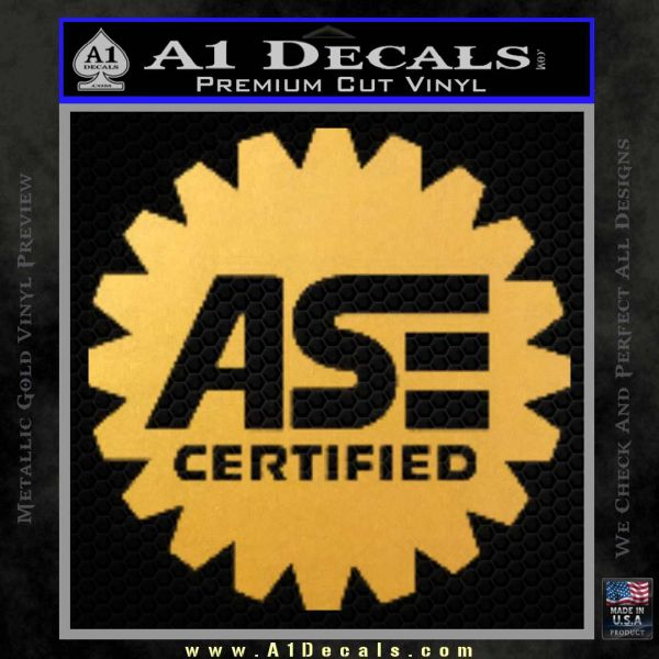 Ase Certified Mechanic Decal Sticker Cr A1 Decals