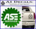 ASE Certified Mechanic Decal Sticker CR Green Vinyl Logo 120x97