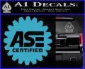 ASE Certified Mechanic Decal Sticker CR Light Blue Vinyl 120x97