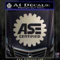 ASE Certified Mechanic Decal Sticker CR Metallic Silver Emblem 120x120