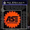 ASE Certified Mechanic Decal Sticker CR Orange Emblem 120x120