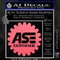 ASE Certified Mechanic Decal Sticker CR Pink Emblem 120x120