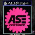 ASE Certified Mechanic Decal Sticker CR Pink Hot Vinyl 120x120