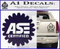 ASE Certified Mechanic Decal Sticker CR PurpleEmblem Logo 120x97