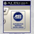 ASE Certified Mechanic Decal Sticker RT Blue Vinyl 120x120