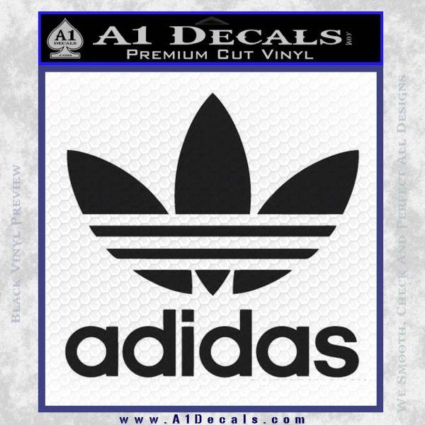 Adidas retro decal black vinyl