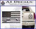 American Infidel Flag D1 Decal Sticker Carbon FIber Black Vinyl 120x97