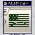 American Infidel Flag D1 Decal Sticker Dark Green Vinyl 120x120
