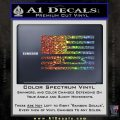 American Infidel Flag D1 Decal Sticker Glitter Sparkle 120x120