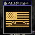 American Infidel Flag D1 Decal Sticker Gold Vinyl 120x120