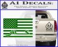 American Infidel Flag D1 Decal Sticker Green Vinyl Logo 120x97