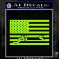 American Infidel Flag D1 Decal Sticker Lime Green Vinyl 120x120