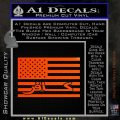 American Infidel Flag D1 Decal Sticker Orange Emblem 120x120
