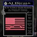 American Infidel Flag D1 Decal Sticker Pink Emblem 120x120