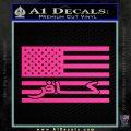 American Infidel Flag D1 Decal Sticker Pink Hot Vinyl 120x120