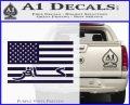 American Infidel Flag D1 Decal Sticker PurpleEmblem Logo 120x97