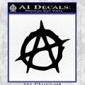 Anarchy Decal Sticker Rough Black Vinyl 120x120