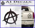 Anarchy Decal Sticker Rough Carbon FIber Black Vinyl 120x97
