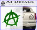 Anarchy Decal Sticker Rough Green Vinyl Logo 120x97