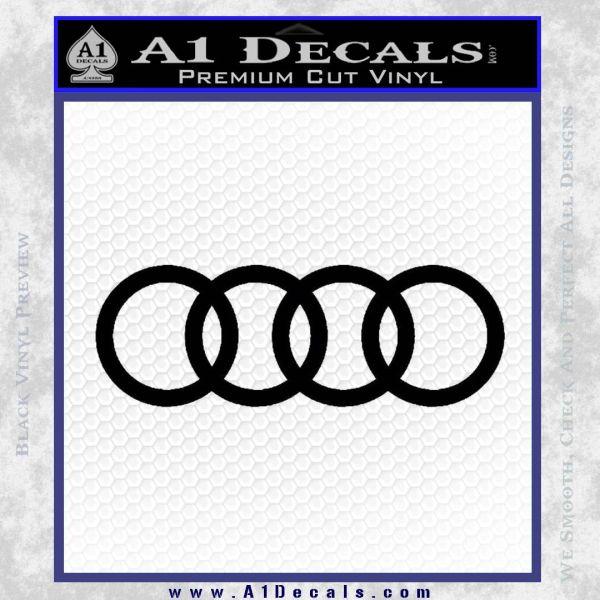 Audi Decal Sticker Rings Black Vinyl