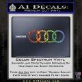 Audi Decal Sticker Rings Glitter Sparkle 120x120