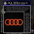 Audi Decal Sticker Rings Orange Emblem 120x120