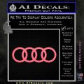 Audi Decal Sticker Rings Pink Emblem 120x120