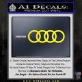 Audi Decal Sticker Rings Yellow Laptop 120x120