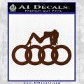Audi Sexy D1 Decal Sticker BROWN Vinyl 120x120