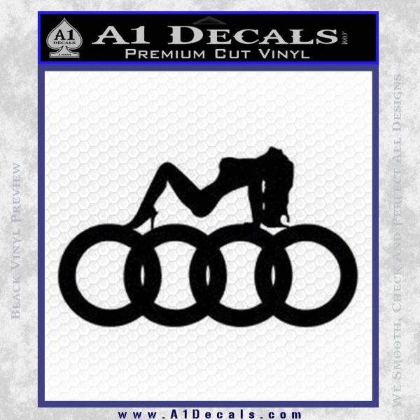 Audi Sexy D1 Decal Sticker Black Vinyl