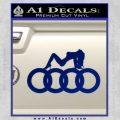Audi Sexy D1 Decal Sticker Blue Vinyl 120x120