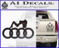 Audi Sexy D1 Decal Sticker Carbon FIber Black Vinyl 120x97