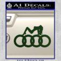 Audi Sexy D1 Decal Sticker Dark Green Vinyl 120x120