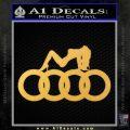 Audi Sexy D1 Decal Sticker Gold Vinyl 120x120