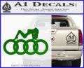 Audi Sexy D1 Decal Sticker Green Vinyl Logo 120x97